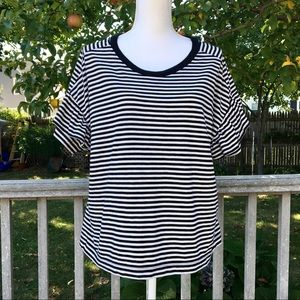 Madewell Ruffle Sleeve Tee in Stripe